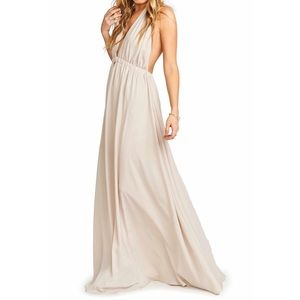 Show Me Your MuMu - Ivory Halter Gown